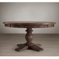 Buy cheap Recycled Fir Solid Wood round wood dining room table 152*152*78 cm large size from wholesalers