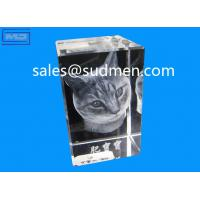 Buy cheap high quality small MOQ cheap price custom made 3d photo laser crystal from wholesalers