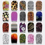 Buy cheap Eco - friendly  glue beauty girls finger 2d nails sticker with funky nail polish designs from wholesalers