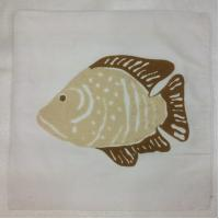 Buy cheap Embroidery cushion cover with fish design. from wholesalers