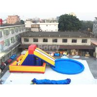 Buy cheap Amusement Inflatable Backyard Water Park , Inflatable Slide With Pool from wholesalers