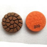 Buy cheap Spiral Concrete Floor Resin Bond Diamond Dry Wet Polishing Pads from wholesalers