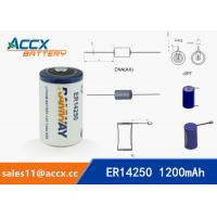 China ER14250 3.6V 1.2Ah 1/2AA lithium battery on sale