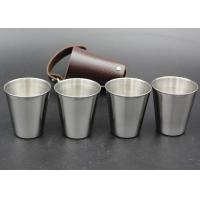 Buy cheap High Grade Metal Wine Cup Pu Skin Pat For Men European Style Logo Printable from wholesalers