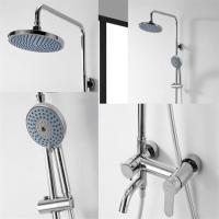 Buy cheap Brass Chrome Shower Mixer Set , Round Wall Mounted Shower Mixer from wholesalers