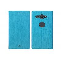 Buy cheap Fashion Blue Protective Leather Case For Sony Xperia XZ2 5.9*3.9*0.6 Inches from wholesalers