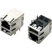 China Module Jack RJ45 Over single USB 2.0,shielded, with integrated magnetics on sale