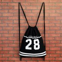 Buy cheap Organic Cotton Drawstring Backpack 40*33 CM Size Custom Logo Printed from wholesalers