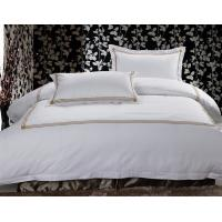 Buy cheap 250TC Hotel Bed Linen 100% Cotton Satin Square Design With Bed Cover Hotel from wholesalers