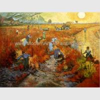 Buy cheap Impressionism Hand Painted Van Gogh Reproductions Red Vineyards At Arles from wholesalers