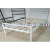 Buy cheap Simple and Sturdy metal bed, color customzied and single size, easy to assemble from wholesalers
