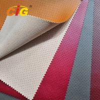 Buy cheap Soft Feeling Holes Pvc Artificial Leather High Tear Fastness For Car Seat Cover product