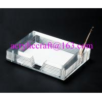 Buy cheap OEM clear acrylic notepad holder transparent lucite memo holder from wholesalers