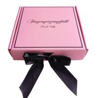 Buy cheap Pink Ribbon Closure Corrugated Gift Box For Girls Dress / Hair Extension product