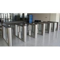 Buy cheap 304 / 316 stainless steel security smalles footprint slim lane flap barrier management PNG from wholesalers