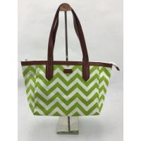 Buy cheap Eco Friendly Reusable Shopping Bags Green Wavy Pattern With Pouch OEM / ODM Available product