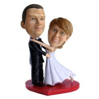 Buy cheap Wedding custom bobbleheads cake toppers for wedding from wholesalers