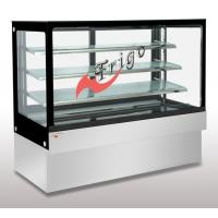 Buy cheap Square Glass Cake Display Case Orchid LED Light Custom Refrigerated Display Cases from wholesalers