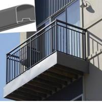 Aluminum stair railing for stairs powder coating - Aluminum stair railings exterior ...