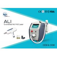 Buy cheap Portable 1064nm / 532nm Medical Laser Tattoo Removal Machine With Detachable Heads from wholesalers