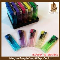 Buy cheap Personalized Transparent Flame Refillable Cigarette Lighter For Mens from wholesalers