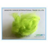 Green Dyed Recycled Pet Staple Fiber Sustainable For Vortex Spinning