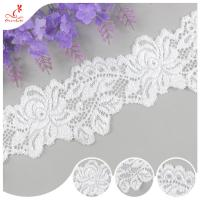Buy cheap White Flower 2CM Water Soluble Lace Trim For Apparel , Handicraft product