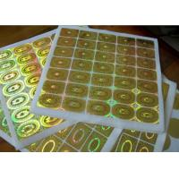 Buy cheap Round Circle Security Hologram Sticker Permanent Adhesive Waterproof from wholesalers