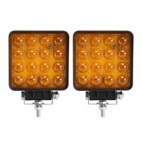 Buy cheap 48W 4D LED Vehicle Work Light Flood/Spot 12~48 V DC Square Off-Road Bulb Lamp from wholesalers
