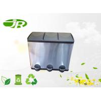 Buy cheap 60 Liter Pedal Domestic Waste Bins kitchen Waste Bin 3 Compartment from wholesalers