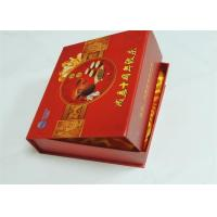 Buy cheap Magnetic Closure Gift Box Printing Coated Paper + Cloth / Silk W-O Binding Red Color from wholesalers