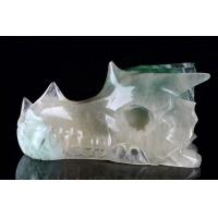 "Buy cheap 4"" Natural Green Fluorite Dragon Skull Carving #4K14,Cute,Healing from wholesalers"