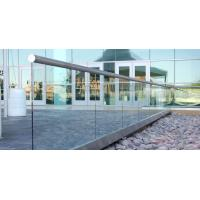 Buy cheap Balcony Aluminum U Base Channel Glass Railing for Deck Intalled Design from wholesalers