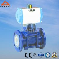 Buy cheap 3 PCS Pneumatic Ceramic Lined Floating Ball Valve (GQ641TC) from wholesalers