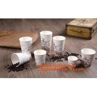 Buy cheap Food use disposable plastic paper cup and coffee lids, pla cups,biodegradable paper cups with lids,100% compostable pape from wholesalers