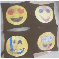 Buy cheap Face Emoji Pillow Sequin Decor Cushion Cover Reversible Change Sofa Changing from wholesalers