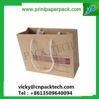 Buy cheap Eco-Friendly Brown Craft Paper Cotton Handle Shopping Beverage Bags Coffee Packaging Bag from wholesalers