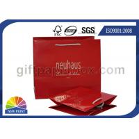 Buy cheap Personalized Retail Shopping Bags / Red or Brown Paper Shopping Bags with Handles from wholesalers