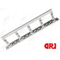 Buy cheap 24Port Unloaded Rj45 Rack Mount Patch Panel 1 U Stainless Steel For Cat5e / Cat6 from wholesalers