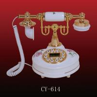 Buy cheap Antique ceramic telephone (CY-614), ployresin resin corded and cordless antique telephone christmas gift OEM from wholesalers