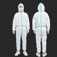 Buy cheap Unisex Disposable Disposable Protective Suit Non - Woven Work Safety Optional Size from wholesalers