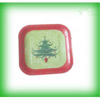 Buy cheap Christmas party plate customized color painted cast iron plate product