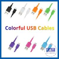 Buy cheap Colored Micro Smartphone USB Data Transfer Cable Hi-Speed 2-in-1 product