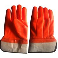 Quality winter use gloves,Fluoresent pvc dipped gloves for sale