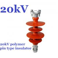 Buy cheap 20kV Small Volume Polymer Pin Insulator , Safety Distribution Insulators from Wholesalers