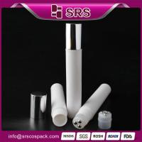 Buy cheap beautiful wholesale white color 15ml plastic roll-on bottle with three balls from wholesalers