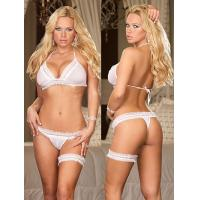 Buy cheap Sheer Satin White Personalised Adults Gorgeous Fabric Bridal Underwear With Buyer Label from wholesalers