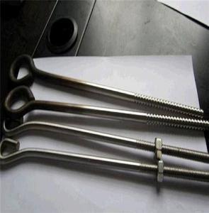 China U / V / J / L  Shaped Foundation Anchor Bolts Grade 12.9 High Tensile Powder Coating on sale