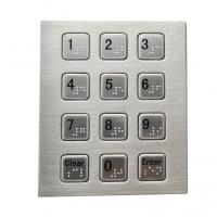 Buy cheap RS232 3 x 4 smart vending machine keypad with Braille dots stainless steel material from wholesalers
