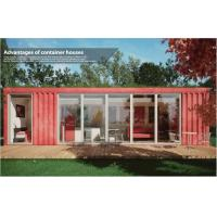 Buy cheap Cozy Leisure Collapsible Modular House / 40ft Shipping Container Home for Coffee Shop from wholesalers